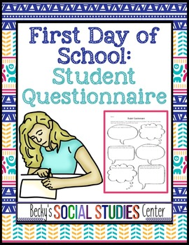 Back to School - Student Survey / Questionnaire