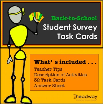 Back to School: Student Survey Task Cards