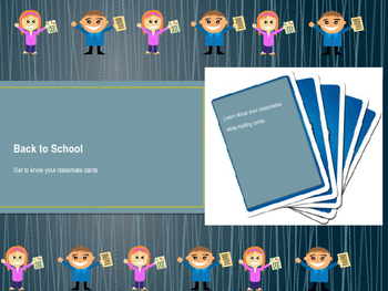 Back to School: Student created trading cards