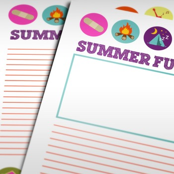 Back to School: Summer Fun Writing Paper