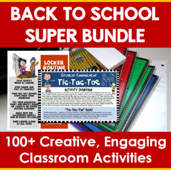 Back to School Super Bundle (100+ Activities)