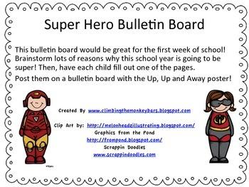 Back to School Super Hero Bulletin Board