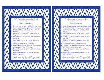 Back to School Survival Kits Grades 2-5