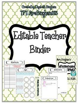 Back to School Teacher Binder - Editable {for all grades!}