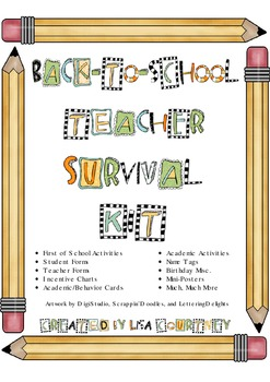 Back to School Teacher Survival Kit - activities,forms,charts+++