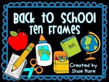 {Back to School} Ten Frame Clip Art {August} 0-10 Common C