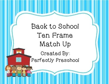 Back to School Ten Frame Match Up