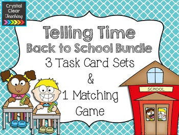 Back to School Themed Telling Time to the Hour and Half Ho