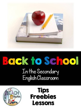 Back to School Tips, Freebies, and Lesson Links