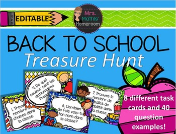 Back to School Editable Treasure Hunt