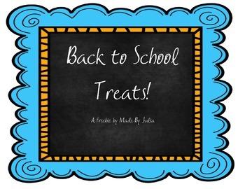 Back to School Treats