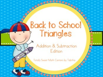 Back to School Triangles- Addition and Subtraction to 20 E