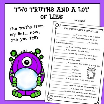 Free Back to School Two Truths and a Lot of Lies AUS UK