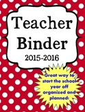 Back to School Ultimate Teacher Binder in RED Preview FREEBIE