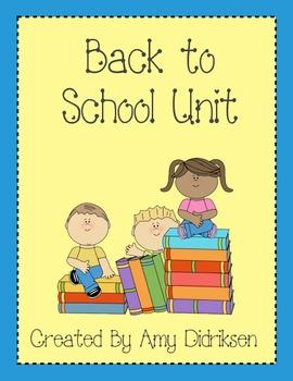 Back to School Unit