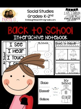 Back to School Unit Interactive Notebook
