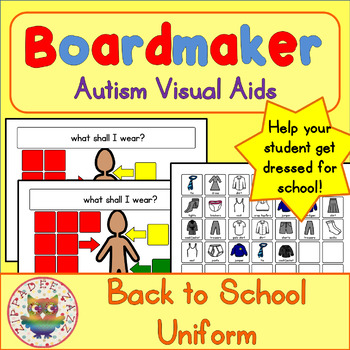 Back to School Visual Aids School Uniform - Boardmaker Vis