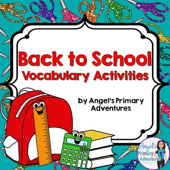 Back to School Vocabulary Activities