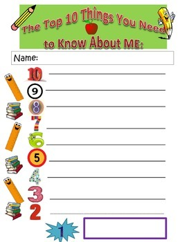 Back-to-School: What You Need to Know About Me!