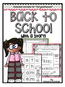 """Back to School With a Story!: """"Chrysanthemum"""" Extension Ac"""