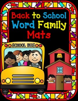 Word Families (Sorting Mats in color and black and white)