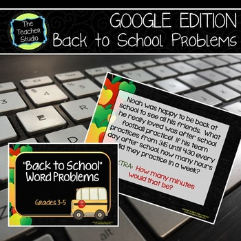 Back to School Word Problems: Problem Solving for Grades 3
