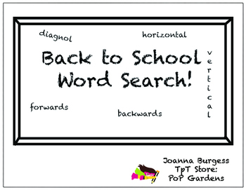 Back to School Word Search!