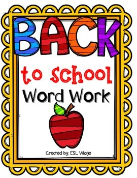 Back to School Word Work {First Grade}