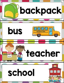Back to School Words