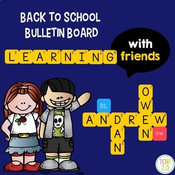 Words With Friends Scrabble Bulletin Board Back to School