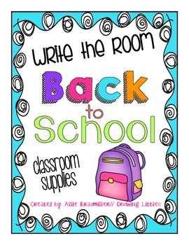 Back to School: Write the Room