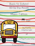 Back to School Write the Room Music Edition tika tika (six