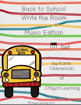 Back to School Write the Room Music Edition tika tika (six