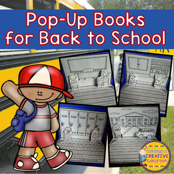 Back to School Writing Activity Pop Up Book
