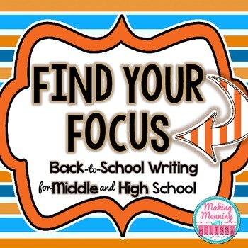 Back to School Writing Activity for Middle and High School