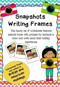 Back to School Writing Frames