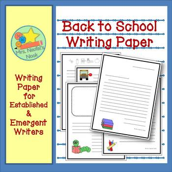 Writing Paper Templates - Back to School