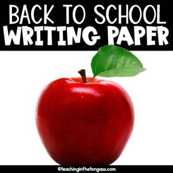Back to School Writing Paper Free