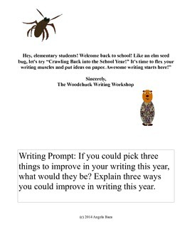 Back to School Writing Prompt Freebie