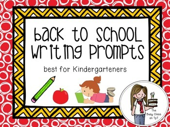 Back to School Writing Prompts (for Kindergarteners)