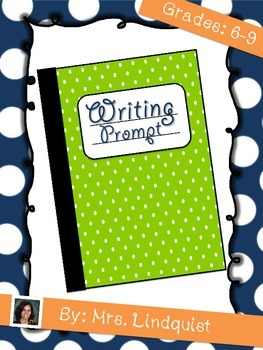 Back to School Writing Prompts for the First Week!