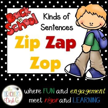 Back to School ZAP: Declarative, Interrogative, Exclam., Impera.