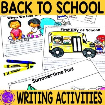 Back to School - first day activities for kindergarten/fir