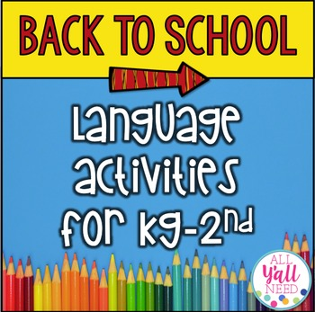 Back to School for Speech/Language Therapy - Younger Elementary