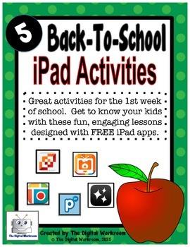 Back to School iPad Activities