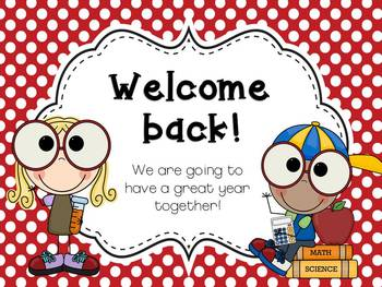 Back to School or Meet the Teacher PowerPoint Editable