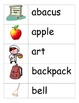 Back to School/September Word Wall Words