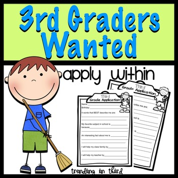 Back to School:Third Graders Wanted