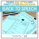 Speech Therapy Organizational Materials for a New School Year