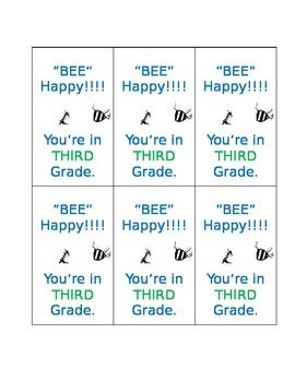 Back to school Bee Tags for students